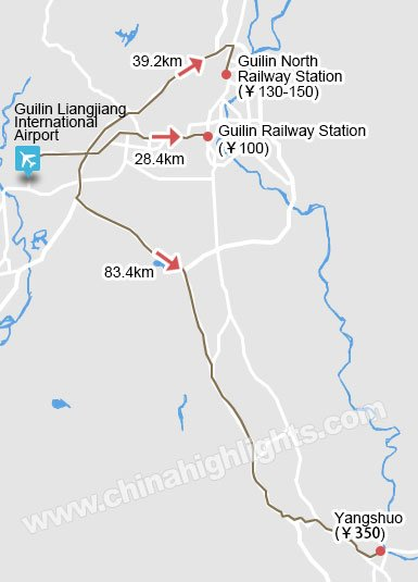 Guilin Taxi Map