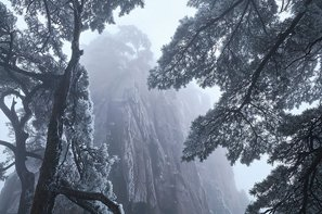The snow scenery of the Yellow Mountains