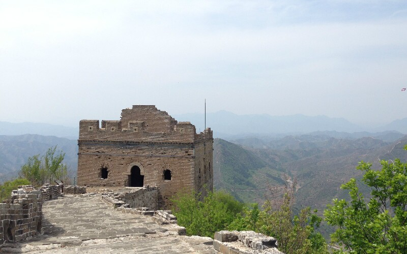 The Baimaguan Great Wall Section in Shanxi Province