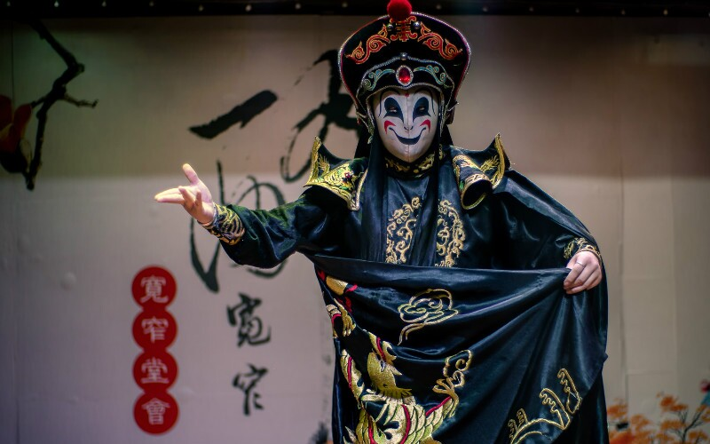 Magical Face Changing in Sichuan Opera