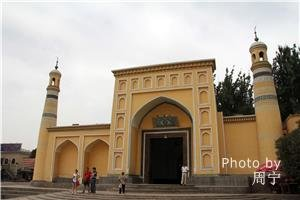 Idgar Mosque in Xinjiang showing Islamic architecture
