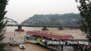 Yellow River Transportation by Boat, Raft and Bridge