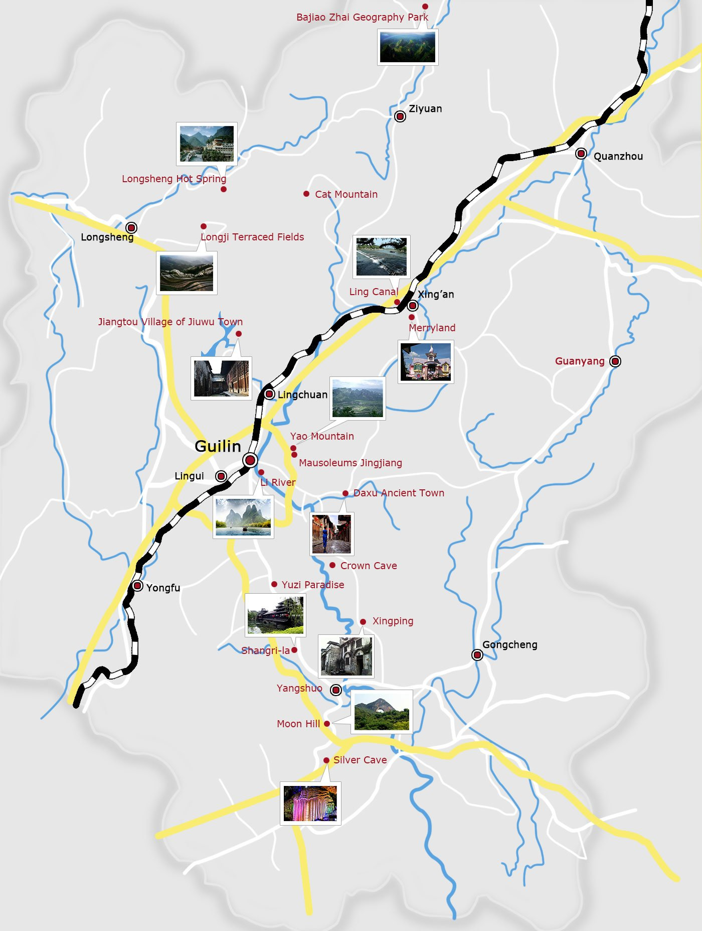 guilin attraction map