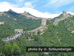 Crowds at Badaling great wall section