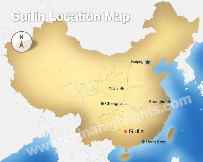 guilin location map
