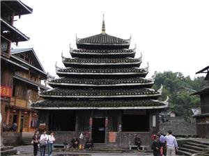 Drum Tower in Sanjiang Dong Village