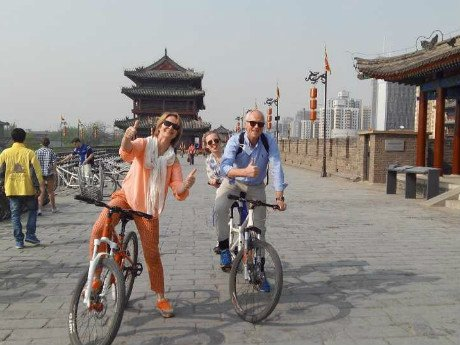 Bike Ride on the Xi'an City Wall