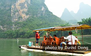 The Motorized Raft on the Li River