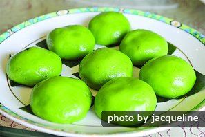 Sweet Green Rice Balls
