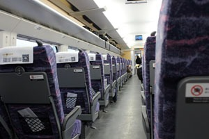 second class seat on high-speed train