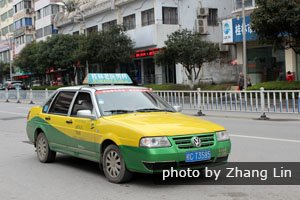 a taxi in Guilin