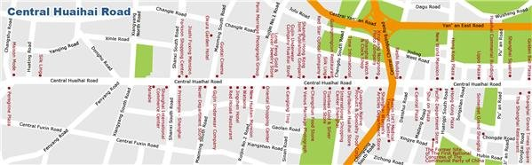 shanghai central huaihai road map