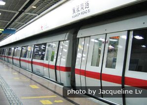 Metro is a good transportation option in Hangzhou.