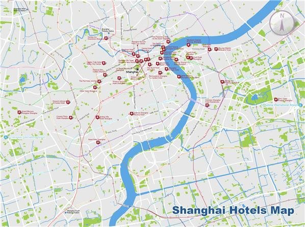 shanghai hotels map