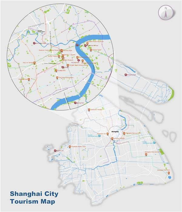 shanghai city tourism map