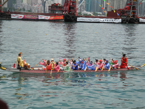 Hong Kong International Dragon Boat Races in Victoria Harbour