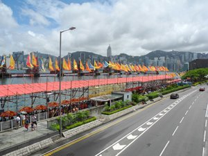 The venue for the Hong Kong International Dragon Boat Race