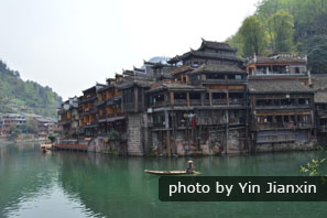 The typicl Diaojiao buildings along the river