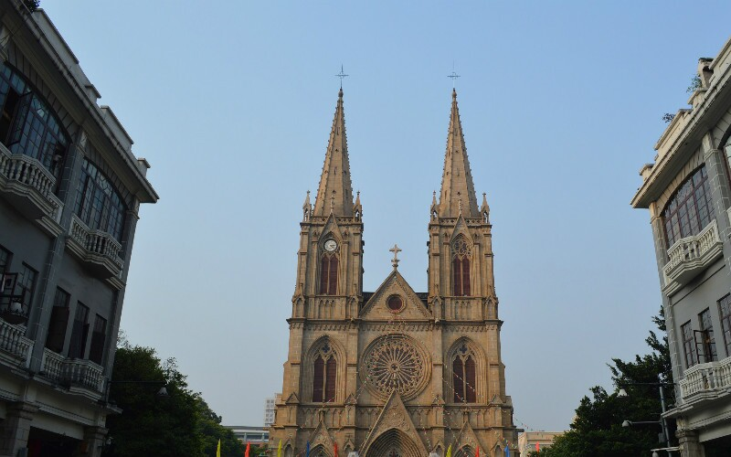 Sacred Heart Cathedral - a Gothic Catholic Cathedral in Guangzhou