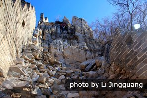 the great wall of China at jiankou