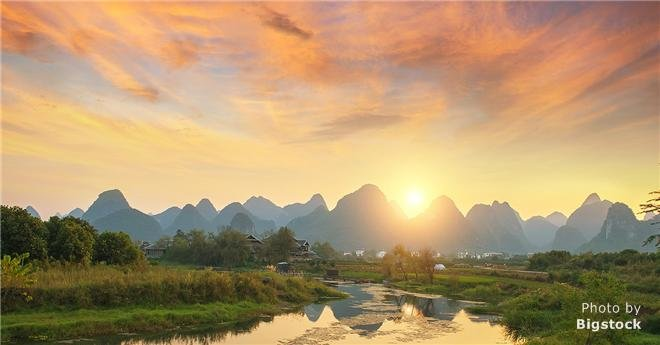 beautiful scenery of xingping, yangshuo