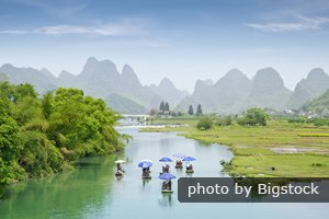 Enjoy a Rafting on the Yulong River.