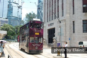 Ding Ding Tram in Hong Kong