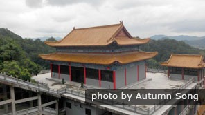 Ancient buildings on Baiyun Mountain