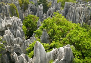 The Stone Forest in Kunming, Yunnan Province