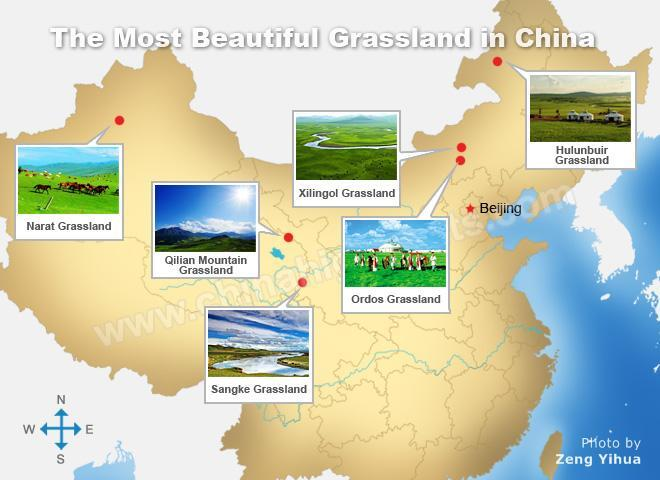 the most beautiful grassland in china