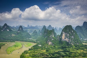 Xingping typifies the karst landscape of Guilin
