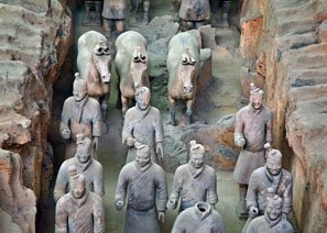 The Terracotta Army can be visited all the year round.