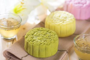 Green Tea Mooncakes