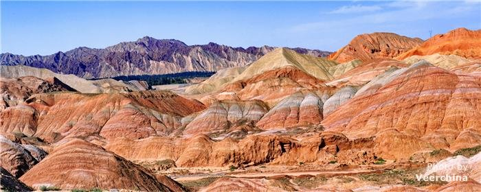 colorful mountains, Zhangye