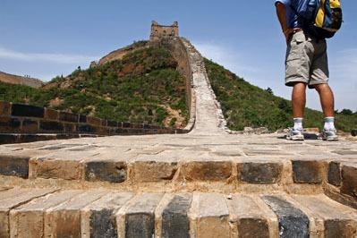 Muraglia cinese a piedi