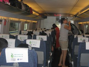 High-Speed Train in China (Bullet Train)