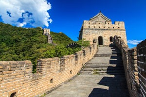 A watchtower on the Mutianyu Great Wall