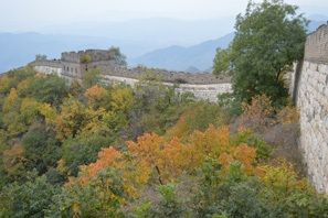 Fall colors around the Great Wall of China