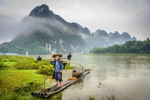 Li River, rainy season