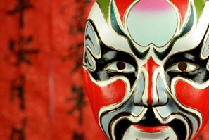 The mask of Beijing Opera