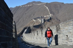 walking the Great Wall at Mutianyu with no crowds