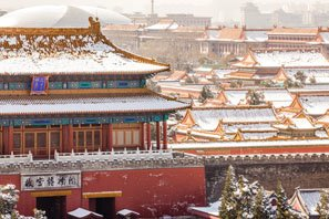 The snow scenery of the Forbidden City