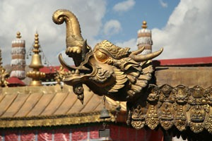 Carvings in Jokhang Temple