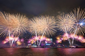 Hong Kong New Year firework show