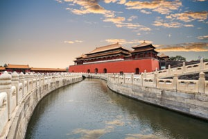 The Forbidden City and its moat