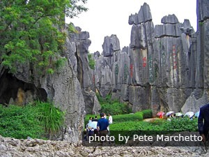 The Stone Forest near Kunming in Yunnan Province