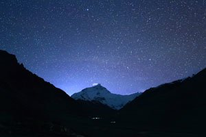 starred sky of Everest