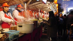 Street food vendors in China