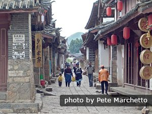 Lijiang Ancient Town in low travel season