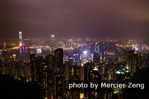 Night view of Victoria Peak